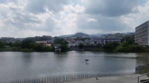 甲山を眺めながら