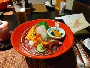 ビール、日本酒を飲みながら2時間歓談